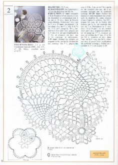 "Photo from album Mailles Nomero special hors-serie № 65 Le Crochet facile"" on Yandex. Filet Crochet, Crochet Doily Diagram, Crochet Doily Patterns, Crochet Chart, Thread Crochet, Crochet Stitches, Knit Crochet, Crochet Dollies, Pineapple Crochet"