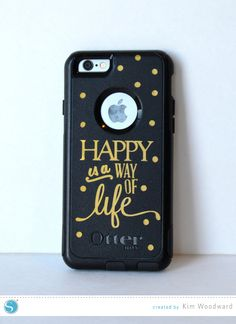 update your boring phone case with your Silhouette & vinyl!