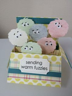 Warm Fuzzies card in a box horizontal by MessagesAndMemories