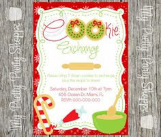 Cookie Exchange / Cookie Swap Invitation by MyPrettyPartyShoppe