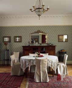 Фото интерьера столовой квартиры в неоклассике