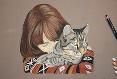 Portrait de chat Artiste animalier La Galerie de Julie