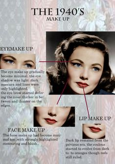 all about 1940s make up. #EyeMakeupEasy #hairstylewomen #hair #hairstyles #hairwomen #stylewomen #frisuren #gayarambut #peinados #frisyrer #причесок