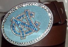 UNC Tarheels Carolina Blue Suede and Clear Crystal by ItsHerTeam, $49.00
