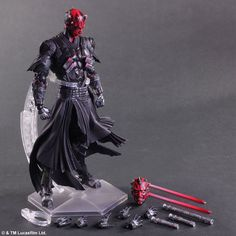 47.11$  Buy here  - Star Wars Play Arts America Anime Movie Darth Maul Dark Knight Action Figure Toys 26cm Kids Collection Model 0242