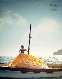 Dolce & Gabbana Alta Moda collection and styled by Italians Anna Dello Russo and Giovanna Battaglia . The beautiful images were shot by Boo George