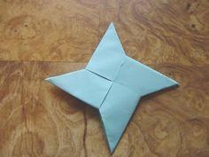 DIY Origami Throwing Star Visual Instructions [Slideshow]