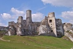 Ruins of old historical castle in Poland, Ogrodzieniec