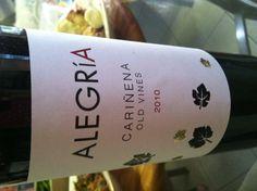 2010, Old Vines Carinena of Alegria #wine