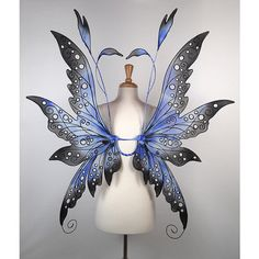 Viewing Gallery For Fairy Wings Adult Costume ❤ liked on Polyvore featuring costumes, adult costumes, adult halloween costumes, wing costume, fairy halloween costume and fairy wing costume