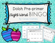 FREE for the first 15 downloads! Includes calling cards and 30 unique playing boards. This FREEBIE uses 40 words from the Dolch Pre-primer word list.
