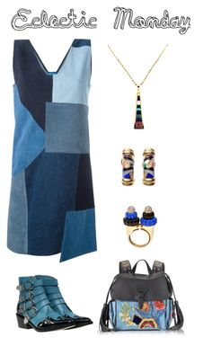"""""""Eclectic Monday"""" by karen-galves ❤ liked on Polyvore featuring M.i.h Jeans, Toga, Roberto Cavalli, Lazuli and Asch Grossbardt"""