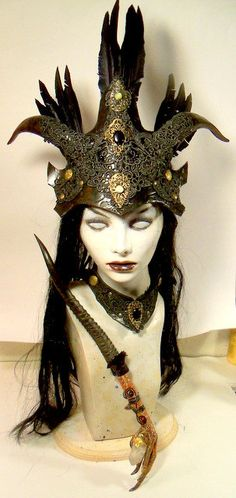 Witch Queen by VincentCantillon on Etsy, $225.00 #raven queen