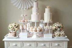 Wedding desert table, milk glass and vintage table
