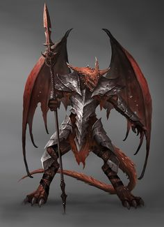 Red Drac or Draconian Dragon Warrior, Dragon Knight, Dragon Fighter, Fantasy Concept Art, Fantasy Character Design, Character Art, Fantasy Dragon, Fantasy Armor, Dungeons And Dragons Characters