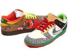 Nike SB What The Dunk Dunks Shoes Colorful