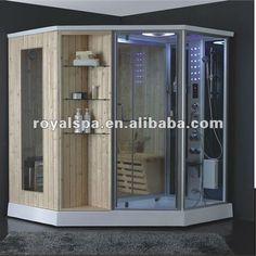 Portable Steam Sauna, Sauna Steam Room, Sauna Room, Steam Shower Enclosure, Sauna Shower, Gym Showers, Steam Showers Bathroom, Bathrooms, Basement Gym