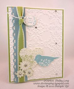 Shelley's-Card using Stampin Up Punch Potpourri