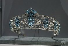 Clearer photo of the Hesketh Aquamarine tiara at the Cartier exhibition in Paris last year