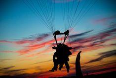 Sunset skydive in Zadar, Croatia.
