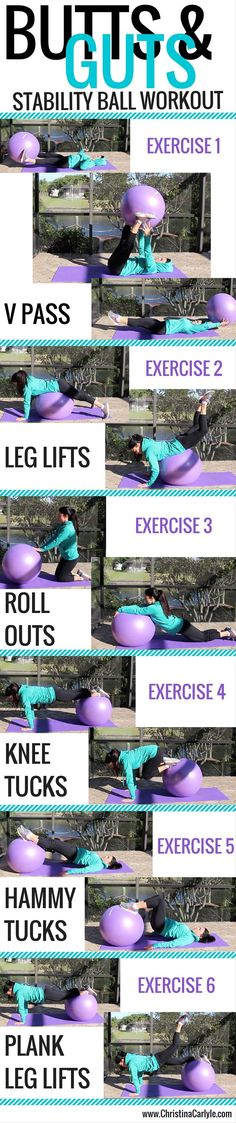Yoga Fitness Flat Belly - Exercise Ball Workout - There are many alternatives to get a flat stomach and among them are various yoga poses. Fitness Workouts, Training Fitness, Strength Training, At Home Workouts, Fitness Motivation, Ball Workouts, Workout Ball, Swimming Workouts, Cycling Motivation