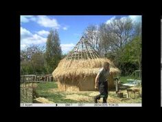 Iron Age Round House Construction in Over - YouTube