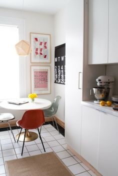 table and vintage chairs