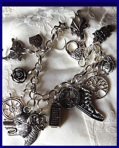 Doctor Who Tribute Charm Bracelet Jewelry by Uberjewelrydesigns, $24.99  Uberjewelrydesigns.com
