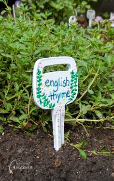 Earth Day Activities: Ditch those plane plastic garden markers for these fun key markers #ecofriendlycrafts #ecofriendly #earthdaycrafts #greencrafts