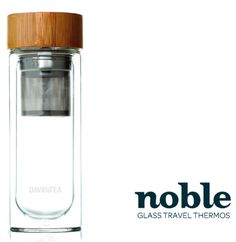 Love tea like me? The Noble Travel Thermos with a stainless steel infuser holds your loose tea, and the double sided glass keeps the heat in! I just ordered one of these bad boys! Davids Tea, Infused Water Bottle, Home Gadgets, Coffee Drinkers, Tea Infuser, Glass Bottle, Drinking Tea, Bad Boys, Drink Bottles