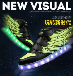 Nice 2017 Luminous Led Shoes For children Fashion High Quality Unisex LED Luminous Shoes girls & boys Casual Shoes led shoes for kids - $ - Buy it Now!