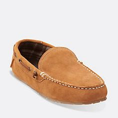 Venetian Plaid Lined Moccasin Grey - Men's Slippers - Clarks® Shoes Official Site