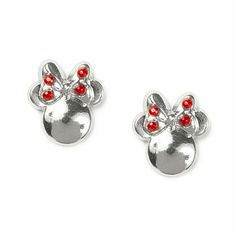 Minnie Mouse Stud Earrings with Crystals | Claire's