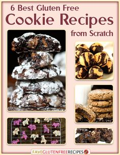 6 Best Gluten Free Cookie Recipes from Scratch eCookbook - the perfect #glutenfree cookie tool for the holidays! - FaveGlutenFreeRecipes.com