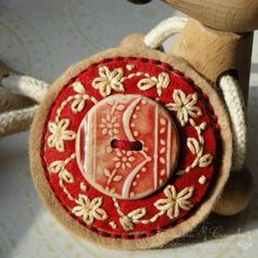 Consolidated Communications Webmail :: Interested in Wool applique and Felt ornaments? 18 ideas picked for you Button Art, Button Crafts, Red Button, Felt Crafts, Fabric Crafts, Dorset Buttons, Wool Embroidery, Felt Brooch, Penny Rugs