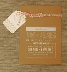 our save the date!  designed by @Jason Chiusano  » behance
