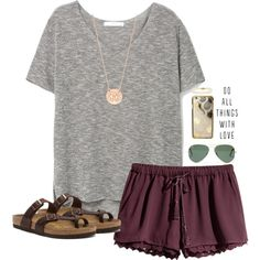 A fashion look from May 2016 featuring MANGO t-shirts, H&M shorts and Birkenstock sandals. Browse and shop related looks.