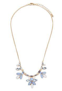 Clustered Faux Gem Necklace | Forever 21 - 1000132364