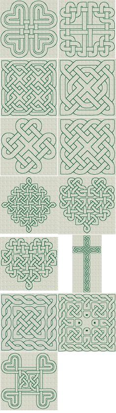Celtic Knotwork RW Series 01 [Series : The Country Needle Embroidery Designs® Celtic Quilt, Celtic Symbols, Celtic Art, Celtic Knots, Celtic Patterns, Celtic Designs, Machine Quilting, Machine Embroidery, Embroidery Patterns