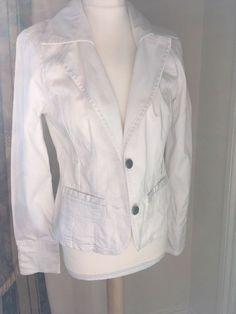 7e2be3518e0d4 Jane Norman Size 12 Ladies White Blazer Jacket  fashion  clothing  shoes   accessories