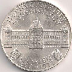 Motivseite: Münze-Europa-Mitteleuropa-Österreich-Schilling-50.00-1972-Hochschule für Bodenkultur Austria, Diy And Crafts, Coins, Personalized Items, Culture, Rooms