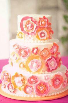 Spring flower cake(: