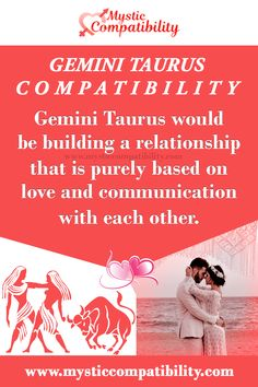Gemini Taurus would be building a relationship that is purely based on love and communication with each other. #Gemini #Taurus #Love_Compatibility #Zodiac_signs #Relationship