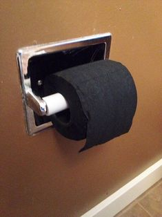 My Roommate Bought Black Toilet Paper