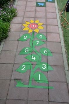 Playground painting ideas - Aluno On Preschool Playground, Playground Games, Outdoor Playground, Outdoor Classroom, Classroom Decor, Playground Painting, School Murals, Sensory Garden, Kids Play Area