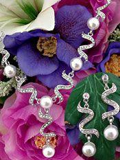 Pearls & Crystals Wedding Jewlery   Pearl & Crystal Bridal Jewelry Set