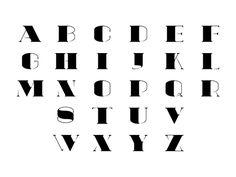 venin typeface by Vian Peanu, via Behance