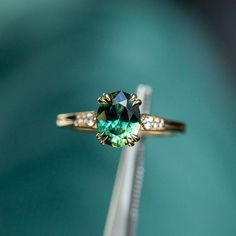 Resize able Real Green Emerald Gemstone Solid 14k Yellow Gold Wedding Engagement Ring Jewelry Gifts For her Size 3-9