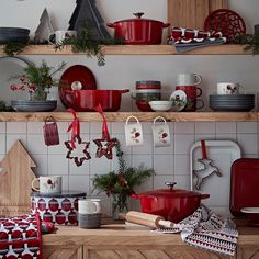 Sprinkle a little festive flavour to your kitchen this Christmas with seasonal cookie cutters, splashes of red and merry mugs! Sainsburys Home, Decor, Colorful Decor, Kitchen Inspiration Design, Home Decor Kitchen, Diy Decor, Home Decor Color, Home Decor, Porch Decorating