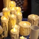Halloween candles with pvc pipe, hot glue, and battery tea lights Holidays Halloween, Halloween Crafts, Holiday Crafts, Halloween Party, Happy Halloween, Halloween Candles, Christmas Candles, Diy Halloween Decorations, Do It Yourself Decoration